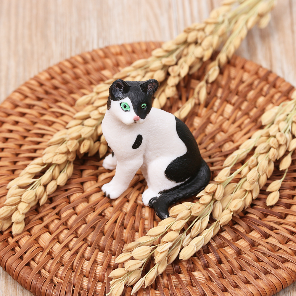 Decor Plastic Miniature Cat Simulation Animal Neko Figurine Mini Pet Model