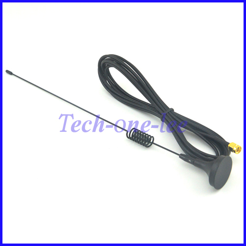 10 Pieces GPRS GSM Antenna 7dbi - 8dbi 900/1800MHz Magnetic Base SMA Plug Crimp RG174 Cable 3M Free Shipping