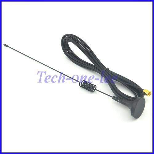 10 pieces SMA Plug Crimp RG174 GSM GPRS Antenna 7dbi - 8dbi 900/1800MHz Magnetic base Cable 3M free shipping