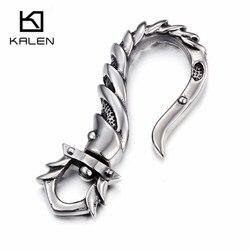 Kalen universal chaveiros de aço inoxidável de alta qualidade dos homens da marca gancho de peixe chaveiros rock punk motociclista chaveiro acessórios