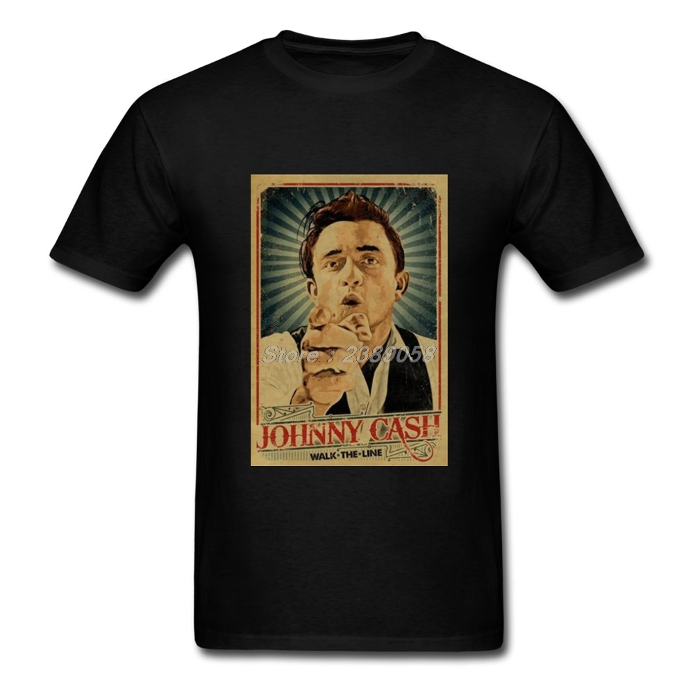 Johnny Cash T-Shirts Mens Short Sleeve 2018 New Hipster T Shirt Brand Men t shirt Plus Size ...