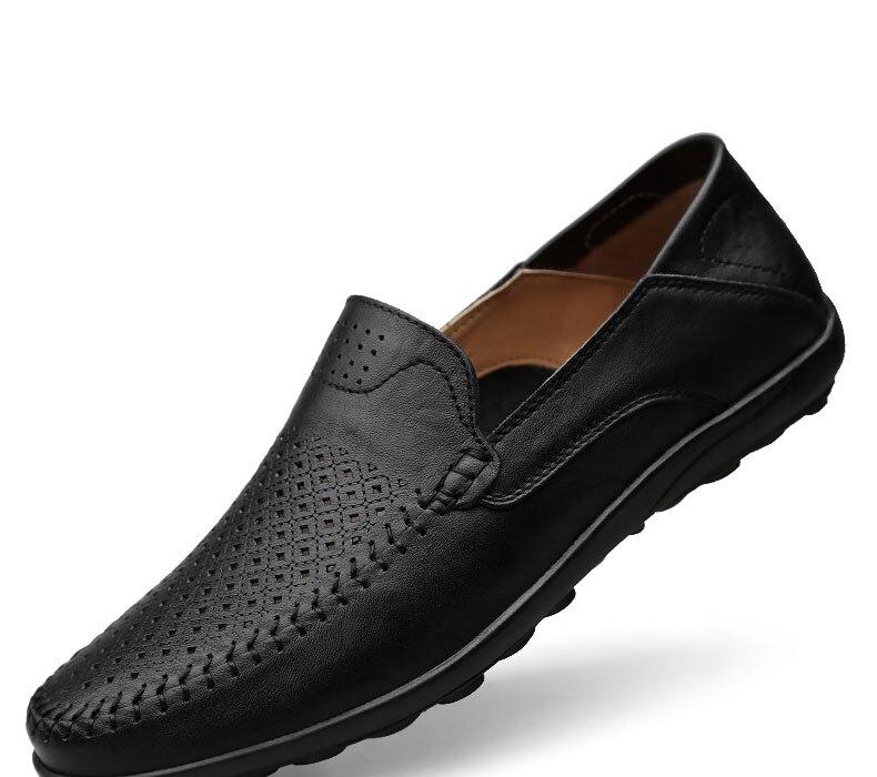 Homem Mocassins Sapatos masculinos Marrom Preto Mens