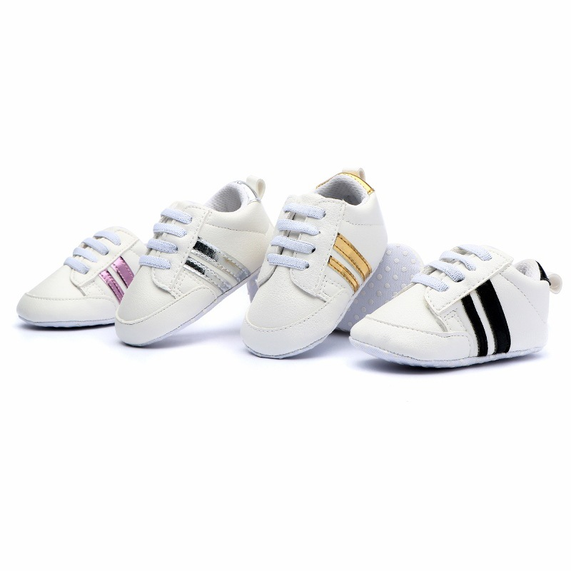 2Pairs Infant Anti-slip PU Leather Romirus Baby Moccasins First Walker Soft Soled Newborn 0-2 Years Sneakers Branded Baby Shoes
