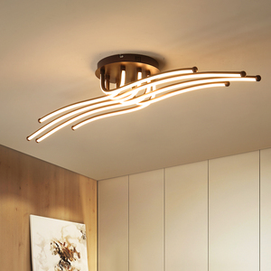 Image 5 - Moderne Led Plafond Verlichting Creatieve Koffie Minimalisme Lamp Voor Woonkamer Slaapkamer Thuis Verlichtingsarmaturen Aluminium Plafondlamp