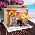 Bonecas DIY Handmade de madeira casa de boneca brinquedos acessórios móveis em miniatura casas de bonecas de brinquedo bonecas de presente de aniversário casa