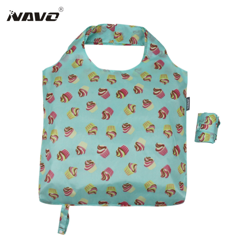 NAVO folding shopping bag eco friendly foldable reusable grocery bags light weight shoulder tote bags sac