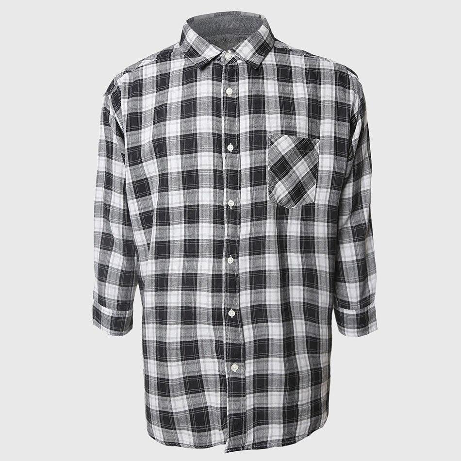 Windowpane Casual Check Shirt