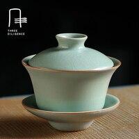 Ручной работы Gaiwan супница Чай горшок Посуда для напитков цветок пуэр Чай чашки Высокое качество кунг фу Портативный дорожный набор Чай чашк