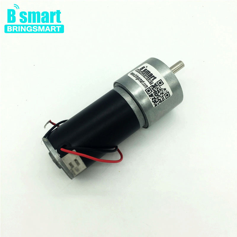 Bringsmart 37GB31Y DC Gear Motor High Torque 12V Mini Motor Permanent Magnet 24V Electric Motor Reducer Reversible Metal Engine with gear 40w 50w hand cranked generator dc small generator 12v 24v permanent magnet dc motor dual use