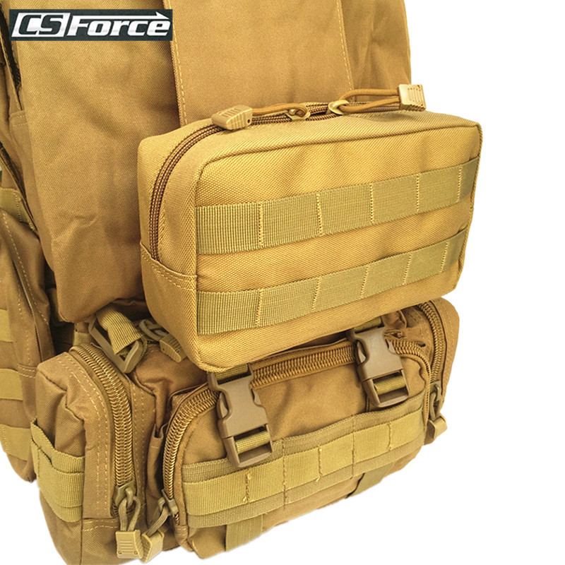 Outdoor Tactical Molle EDC Pouch Accessory Bag Magazine Drop Bag For Vest Belt Backpack Sundries Bag Outdoor Gear Tools Pouch