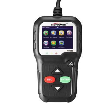 цена на KW680 OBD2 Scanner OBD Car Diagnostic Auto Diagnostic Tool Read Clear Fault Error Codes Russian OBD2 Automotive Scanner Black