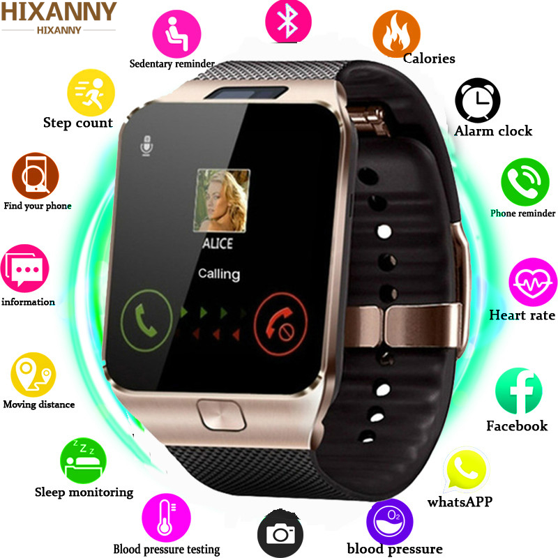 Tf-Card Watch Wrist-Phone Wearable DZ09 Samsung Bluetooth Relogio 2g Sim for Android