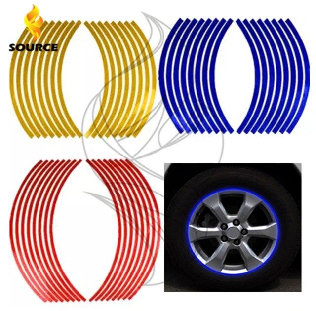 17/18 inch Wiel Stickers Reflecterende Rim Streep Tape Fiets Motorfiets Auto VOOR Kawasaki yamaha ducati honda ktm bmw Suzuki