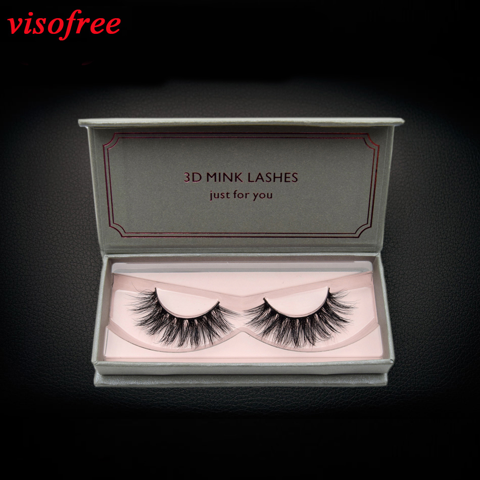 950a163bf57 visofree eyelashes 3D Mink Lashes Reusable Full Strip Lashes False  Eyelashes Handmade Mink Lashes Cruelty free Upper Lashes D22