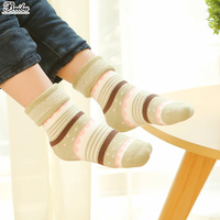 Newborn Terry Cotton Striped Socks Toddler Infant Booties Baby 0 3 Years Old Meias Antiderrapante Baby
