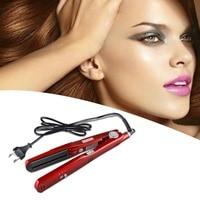 KM 3011 Hair Straightener Ceramic Steam Vapor Plate Wet Dry Hair Straightening Machine Salon Styling Tool