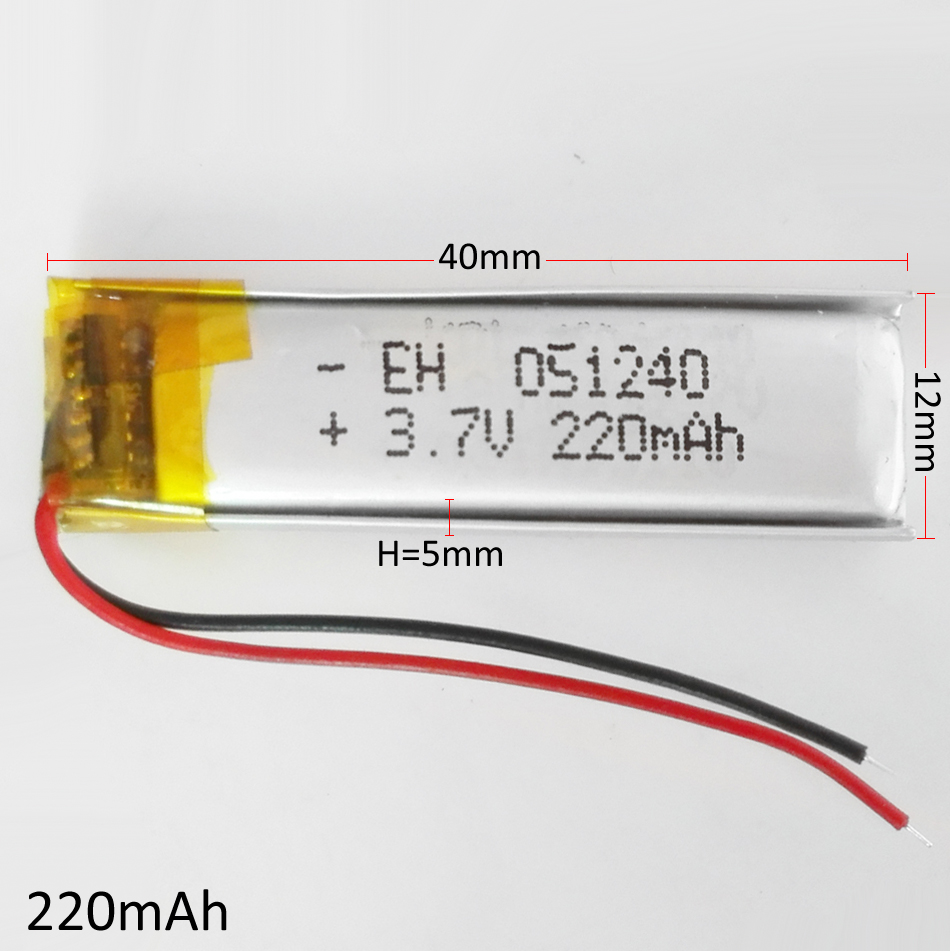 3.7V 220mAh Lithium Polymer LiPo li ion Rechargeable Battery 501240 For Mp3 MP4 MP5 GPS PSP bluetooth headphone electronic part 3 7v 300mah battery 402530 lithium polymer li po li ion rechargeable battery for mp3 mp4 mp5 gps psp mobile electronic part