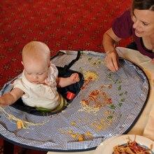 Детский стол для еды, коврик для стульев, чехол для кормления, водонепроницаемый подстилка для сидений, детский стол, предотвращает падение пищи на пол