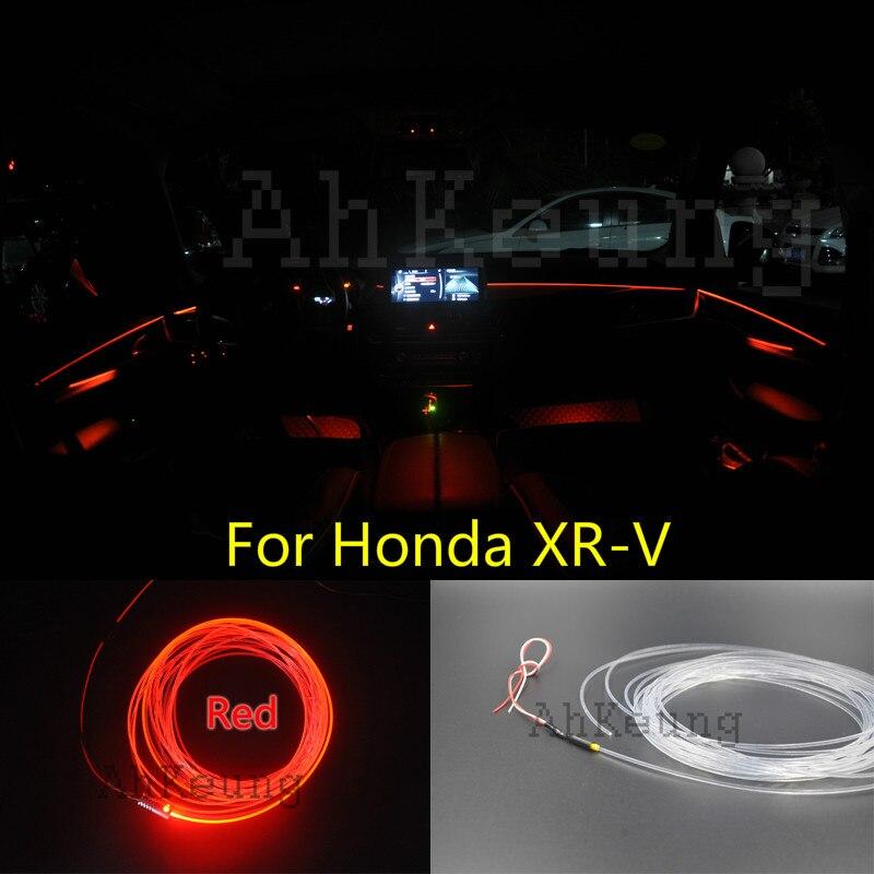 купить For Honda XR-V Car Interior Ambient Light Panel illumination For Car Inside Tuning Cool Strip Refit Light Optic Fiber Band недорого
