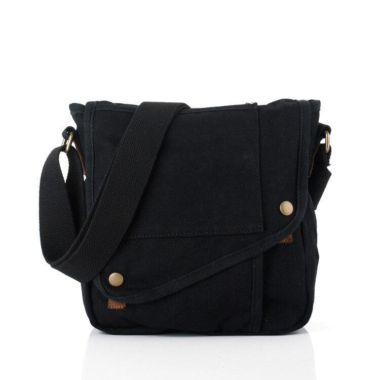 Women Mens Casual Messenger Bags High Quality Canvas Shoulder Bag Fashion Men Business Crossbody Bag Small Travel Male Handbags