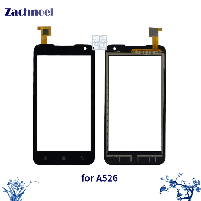 10pcs/lot Touchscreen for Lenovo A526 Touch Screen Digitizer Sensor Lens Front Glass Touch Panel Replacement Parts for A526