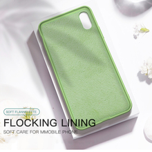 Thin Soft Case For iPhone 7 8 6 6s Plus 7Plus Original Liquid Silicone Cover Plain Candy Color Coque Capa For iPhone X Xs Max XR