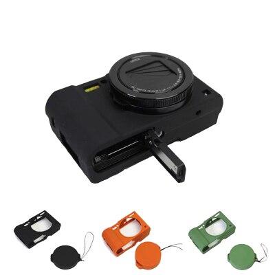 Nizza Schutzkörper Abdeckung für Panasonic Lumix LX10 Weiche silikon Kamera Tasche für Panasonic Lumix L-X10 mit Gummi Objektiv kappe