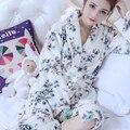 2016 de Invierno gruesa pijama de terciopelo de coral
