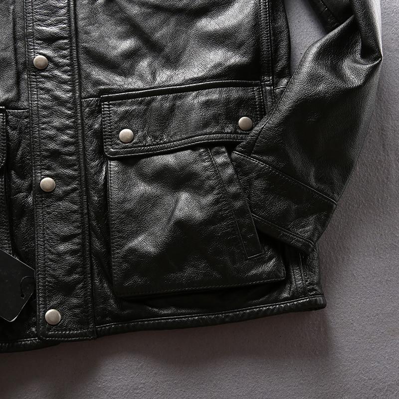 Armee Mantel Oberbekleidung Leder M65 Kuh Jacke Aus Kleidung Herren Reiter Echtem Rindsleder wwgrdqUH