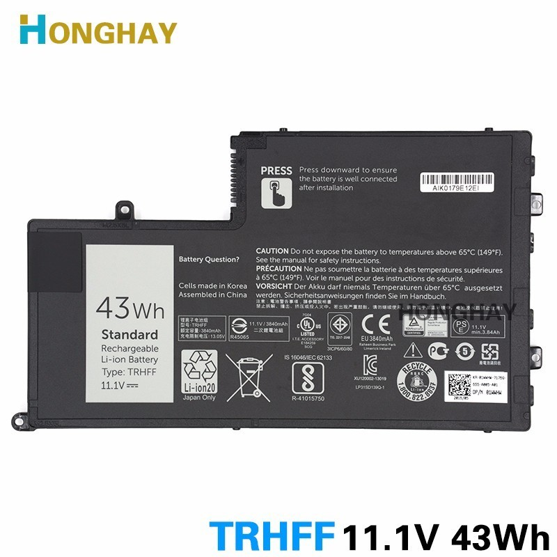 Honghay TRHFF Laptop Battery for DELL Inspiron 5447 5547 5445 5448 5545 14 5447 15 5547 Latitude 3450 3550 0PD19 43WH 15 5557