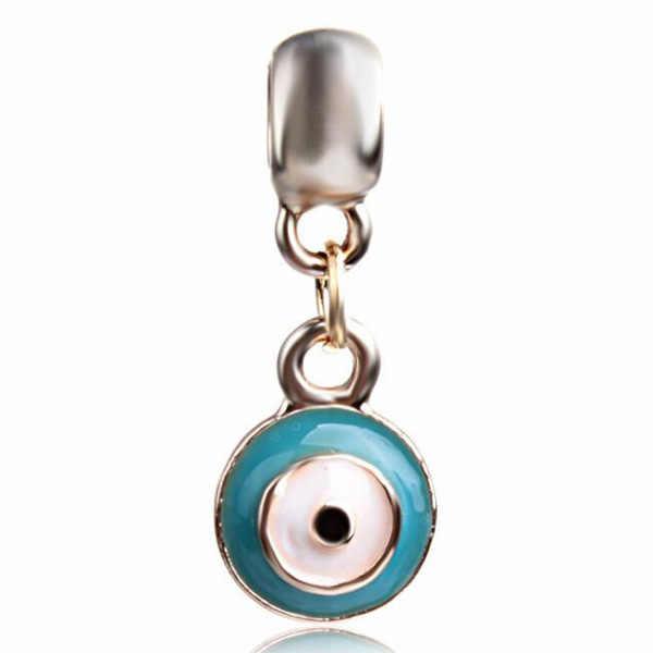 ขายร้อนคริสตัลของขวัญกล่อง Rainbow Key ริมฝีปาก Evil Eyes Star Heart ลูกปัด Pandora Charms สร้อยคอผู้หญิง DIY เครื่องประดับ