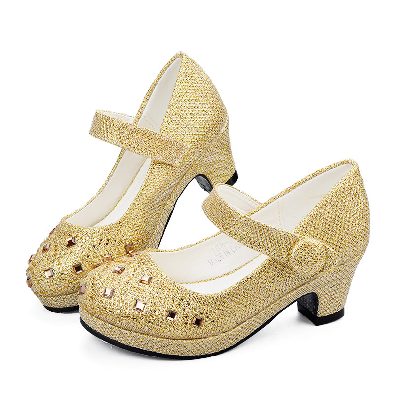9e7fb06c5d14 ULKNN Girls High Heel Shoes For Girls Princess Shoes Children Girl Spring  Sequin Leather Shoe Kids Party Wedding Glitter Crystal-in Leather Shoes  from ...