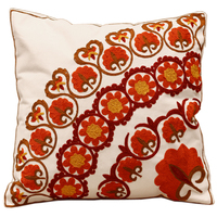 Flower Embroidered Sofa Cushion Cover 100 Cotton 45 45cm Decorative Pillow Covers Room Luxury House Decoration