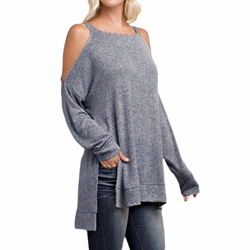 Gray-Asymmetric-Cold-Shoulder-Side-Split-Long-Sleeve-Blouse-LC25969-11-1