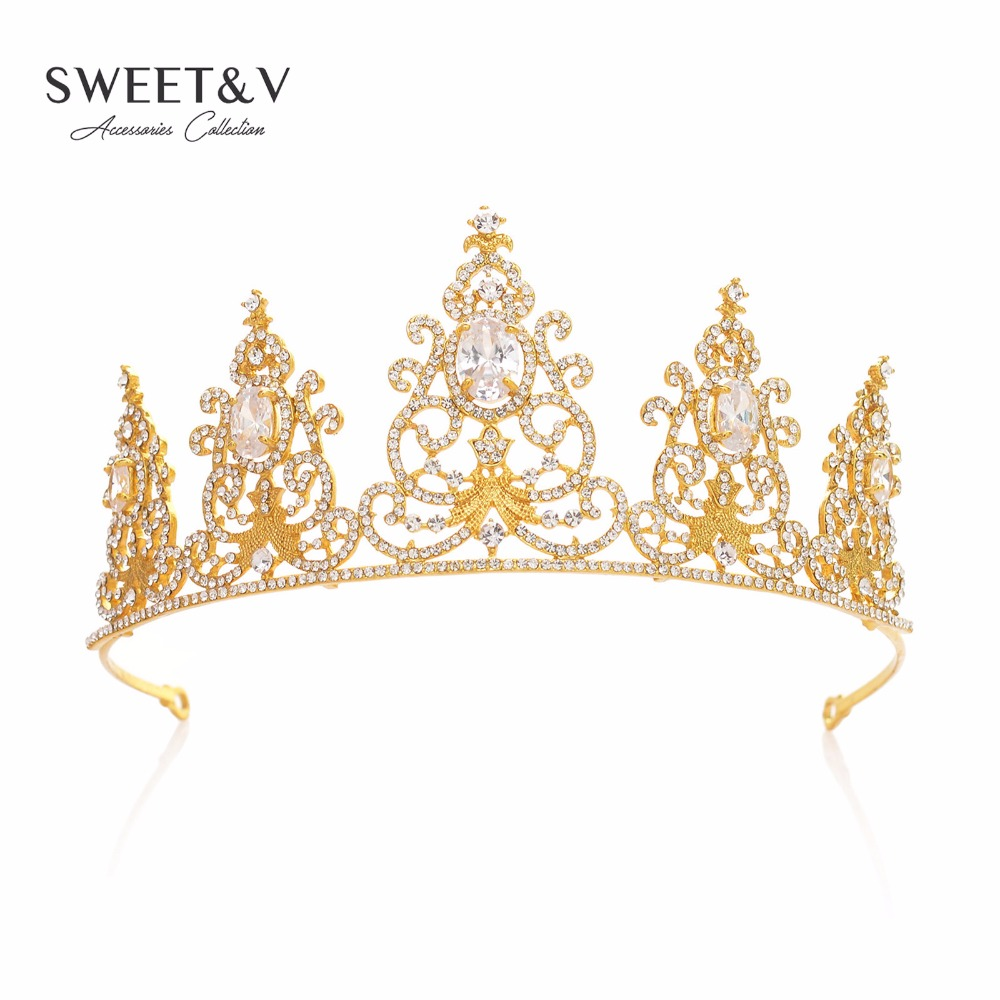 Royal Crystal Princess Crown Rhinestone font b Tiara b font Bridal Headpieces Women font b Hair