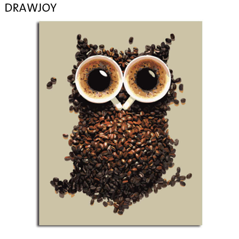 DRAWJOY Framed Picture Painting & Calligraphy Of Loely Animals  DIY Painting By Numbers Coloring By Numbers