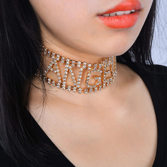 Sexy Letters LADY Choker Necklace Ladies chokers Choker 2bd29c46d809