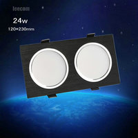 2018 Special Offer Rushed 3pcs 24w Cree Led For Square Downlight Cob Recessed Ceiling Down Light Lamp For Home|LED Downlights|Lights & Lighting -