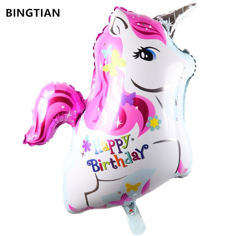 BINGTIAN Unicorn Balloon Party Supplies Wedding Baby Shower Decor Rainbow Birthday Party Decorations kids Unicorn horse Balloons