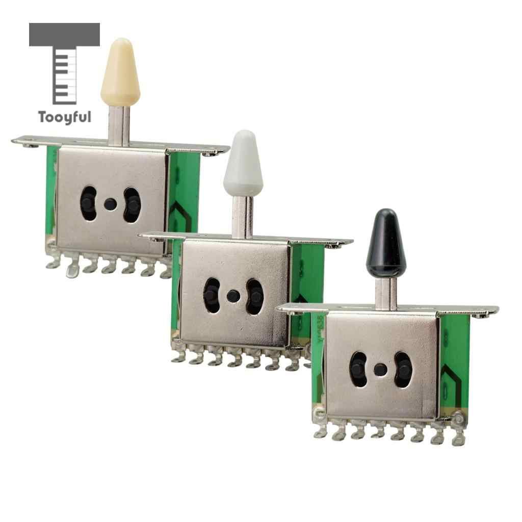 Tooyful Tooyful 5 sposób odbioru przełącznik wyboru z pokrętłem dla ST SQ części do gitary elektrycznej