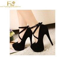 Женская обувь; женские туфли-лодочки Демисезонный Лейла черный крест-накрест с пряжкой на шпильке Ремешок на щиколотке большие Размеры Shoes11 12 и 13 лет