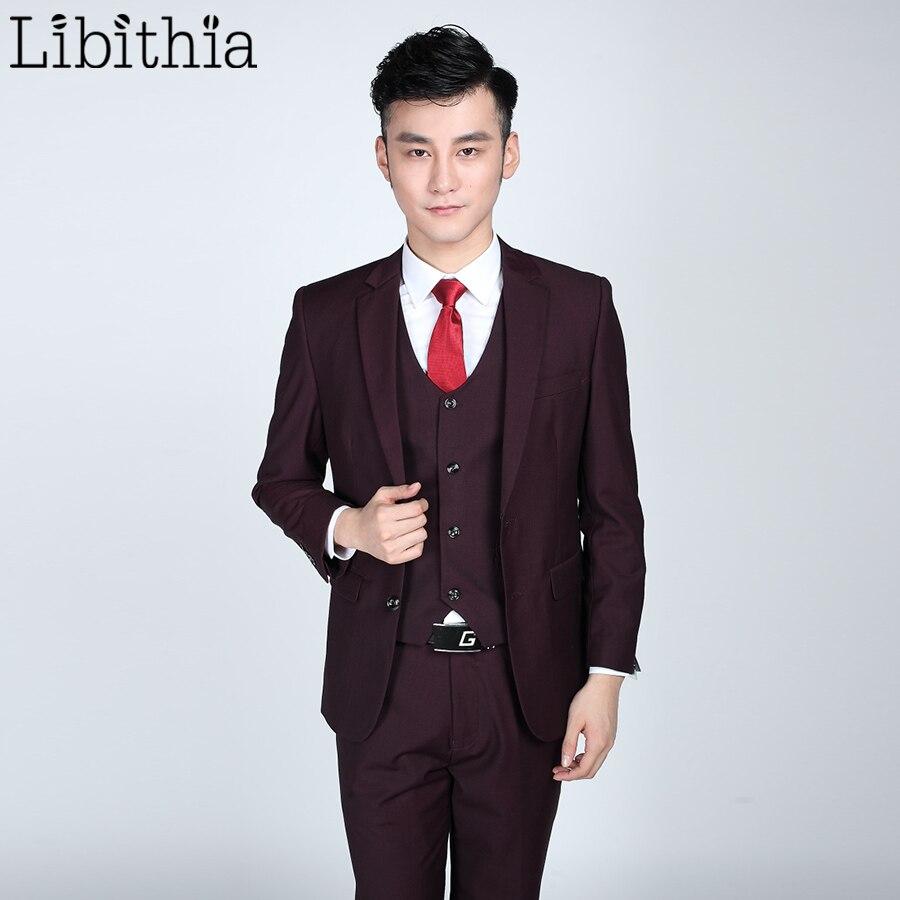 (Jacket + nadrág + nyakkendő) Férfi hivatalos öltönyök - Férfi ruházat