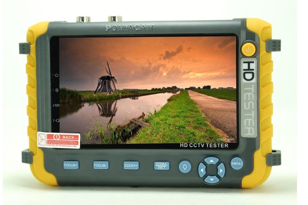 Новый 5 дюймов TFT LCD HD 5MP TVI AHD CVI CVBS Аналоговый тестер камеры безопасности монитор в одном CCTV тестер VGA HDMI вход IV8W - 2