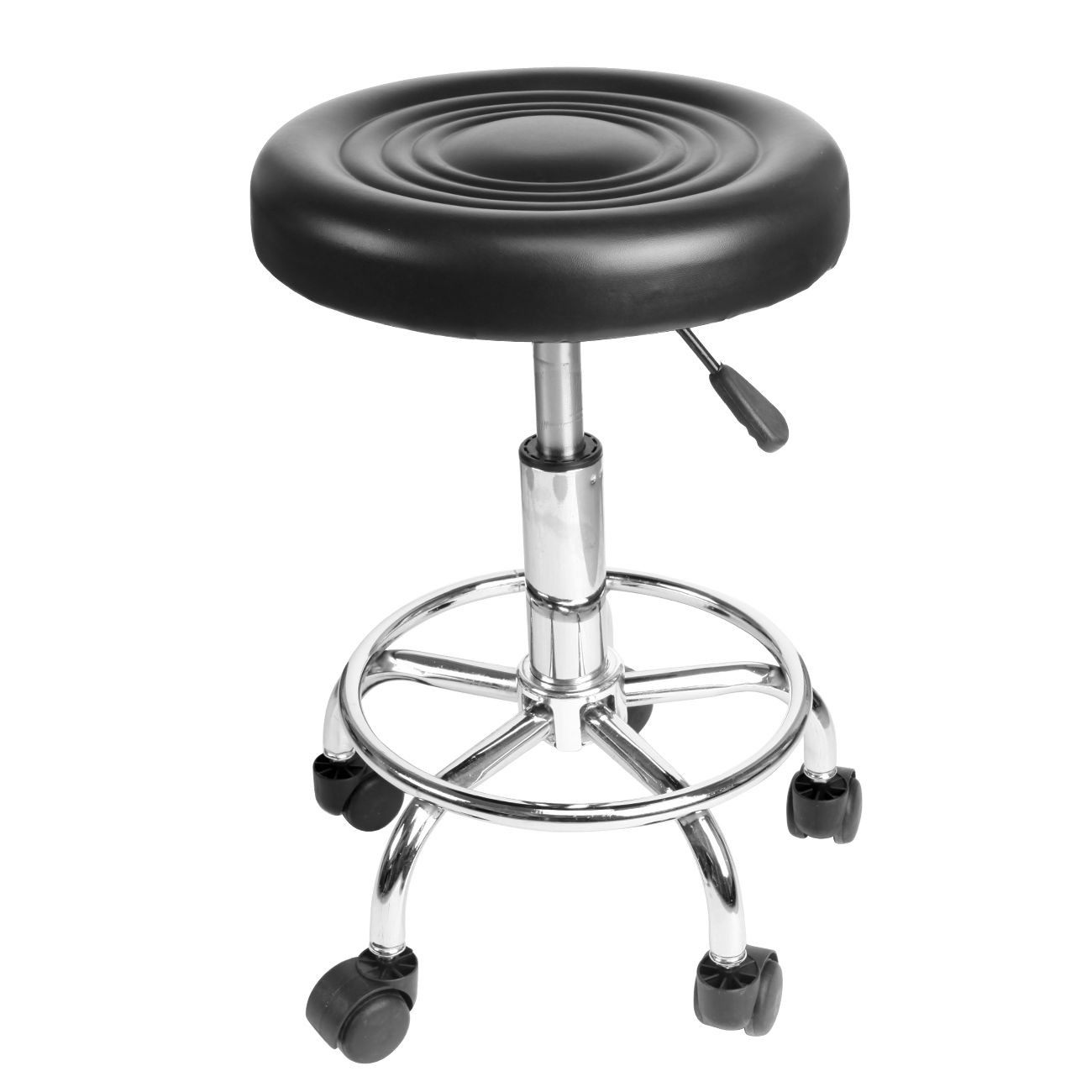 Hydraulic Rolling Swivel Stool Adjustable Tattoo Facial Massage Spa Salon Black rolling salon stool swivel hydraulic saddle chair chromed steel
