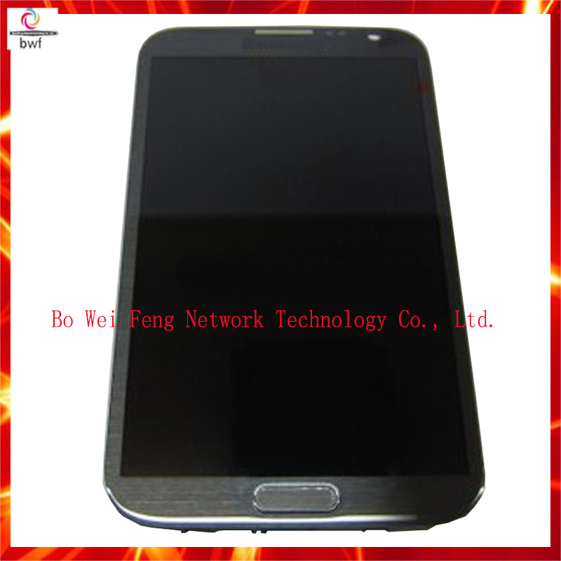 Grey white LCD For Samsung Galaxy Note 2 N7100 lcd Display Touch Screen Digitizer Full Set Assembly With Frame, Free Shipping! brand new3 n7100 lcd free shipping 10pcs n7100 lcd touch sceen digitizer assembly for samsung galaxy note 2 lcd