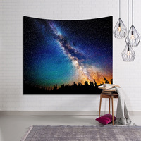 LYN&GY Beautiful Candle Night Sky Wall Tapestry Home Decorations Wall Hanging Forest Starry Tapestries For Living Room Bedroom 4