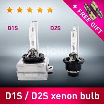 D1S D2S 35W Headlight HID 2 pieces Bulb LightLamp Car styling 4300K 5000K 6000K all colors GLOWTEC + FREE GIFT image