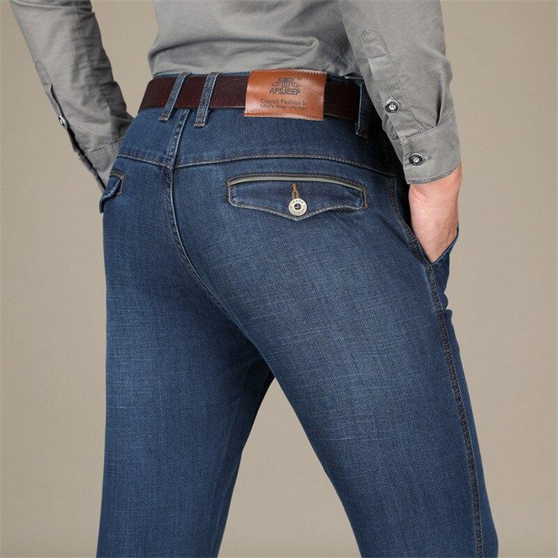 ff2f5f9aa26 NIANJEEP бренд 2018 Новый Smart Повседневное осенние джинсы Для мужчин  Костюмы утолщаются хлопка Прямые мужской Джинсы для женщин большой размер  40 .