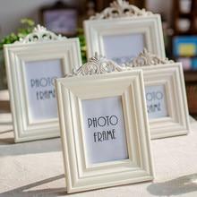 Photo Frame 4 Sizes White Creative Wood Luxurious Picture Frames Set Desktop Home Decor Wedding Gift 3 5 6 7 Inch
