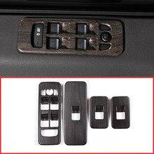 Новые древесины дуба Стиль ABS окна автомобиля лифт переключатель чехол накладка для Land Rover Discovery Спорт 2015 машины аксессуары